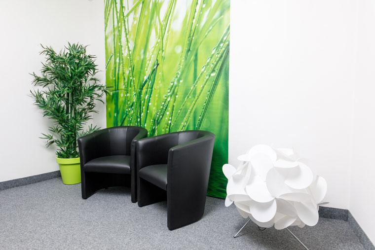 Wartebereich in der Fahrschule 3F in Straubing
