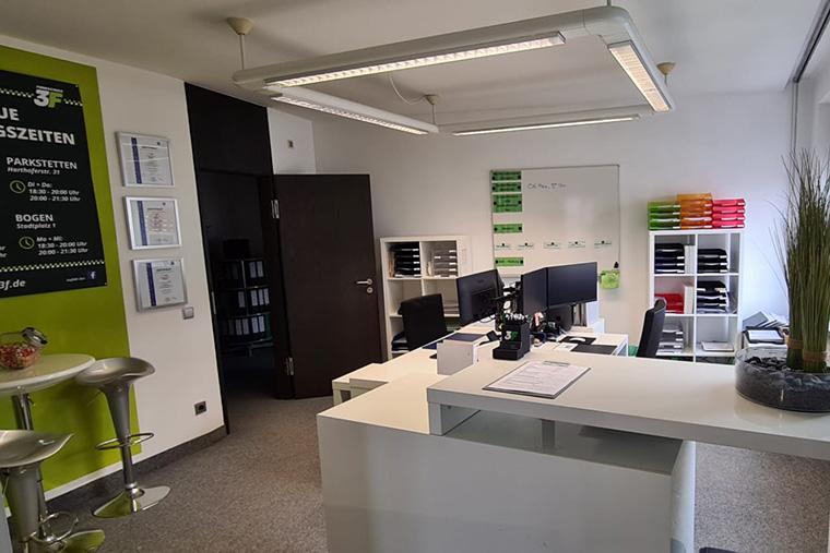 Büro in der Fahrschule 3F